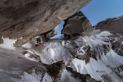Making the first ascent of the NE Face of Cerro Cachet in Northern Patagonia (Lukas Hinterberger, Nicolas Hojac, Stephan Siegrist)