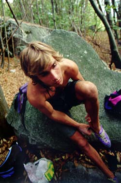 Chris Sharma bouldering at Cresciano