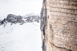 Simon Gietl Tre Cime di Lavaredo solo winter enchainment interview