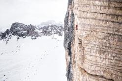 Simon Gietl Tre Cime di Lavaredo solo winter enchainment interview