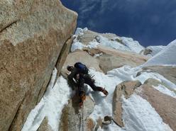 Climbing Via Maestri, Cerro Torre