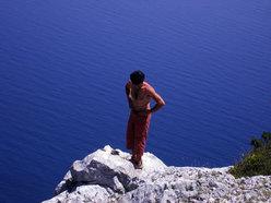 "In cima (al mare). Oltreconfine, Parete ""Amor de Mi Vida"", M.te Ginnircu, Sardegna"