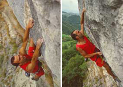 Dino Lagni climbing