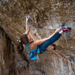 18-year-old Laura Rogora making the first ascent of Corvo Morto 8c+/9a at Ferentillo
