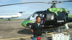 Sherchan Ashish, the pilot who rescued Hiraide Kazuya