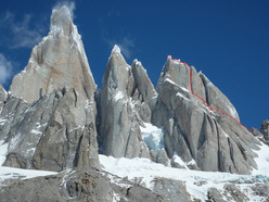 Colin Haley and the first solo ascent of Cerro Standhardt, Patagonia, via the route Exocet (500m, WI5, 5.9).