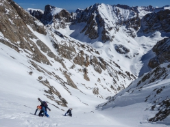 Aladağlar ski mountaineering: the steep upper part of the south couloir of Mt Demirkazik