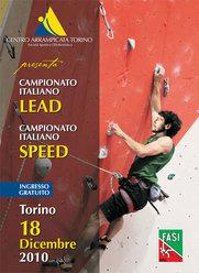 Sabato 18 dicembre al PalaBraccini di Torino si disputerà il Campionato Italiano di arrampicata Lead e Speed organizzato dal centro Arrampicata Torino