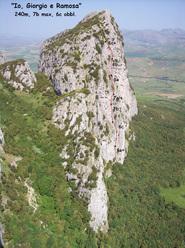 Io, Giorgio e Ramosa (240m, 7b max, 6c obbl.), nuova via sulla parete Ovest di Rocca Ramusa, Sicilia.