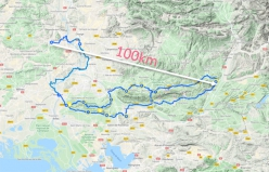 The map of the Tour Des Alpilles which Caroline Ciavaldini and James Pearson plan to cover by bike with their son