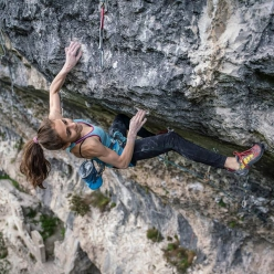 Laura Rogora at Massone in Arco, Italy, has repeated Pure Dreaming Plus, a 9a+ sports climb first ascended by Adam Ondra. The Roman climber is now the first Italian woman, and only the fifth woman in the world after Margo Hayes (02/2017), Anak Verhoeven (09/2017), Angela Eiter (10/2017) and Julia Chanourdie (03/2020).