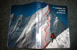 Arwa Tower - the picture that set it all in motion - Mick Fowler's front cover of the 2000 American Alpine Journal.