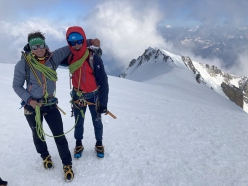 François Cazzanelli and Francesco Ratti repeating the Super Integrale de Peuterey, also referred to as the Frêney trilogy, on Mont Blanc, 07/2020