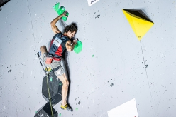 Adam Ondra winning the Briançon stage of the Lead World Cup 2020