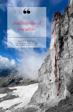 The route of From Hell to Paradise, Vallone del Piantonetto by Hervé Barmasse, Stefano Perrone 08/2020