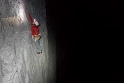 Nicolas Favresse climbing Odyssee on the Eiger with Sébastien Berthe