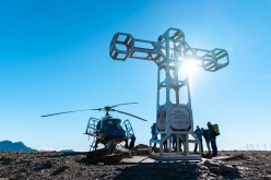 The new cross on Punta Dufour, Monte Rosa massif