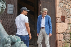 Reinhold Messner and Nirmal Purja meeting at Sigmundskron Castle at Bozen