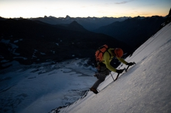 Mt. Forbes, Canada: Alik Berg and Quentin Roberts making the first ascent of the East Face, October 2020