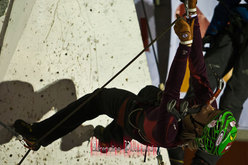 Barbara Zwerger 5a e migliore degli italiani nell'Ice Climbing World Cup - Saas Fee 2011