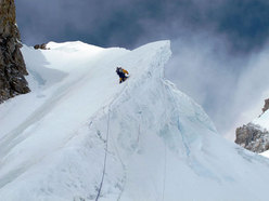 Ascending towards Camp 2 on Gasherbrum II