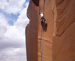 Martina Cufar su Scarface 5.11, Indian Creek, nel 2007