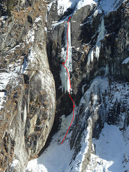 Quasimodo (90m M7 WI7-, Benedikt Purner & Klaus Pietersteiner 02/2011) Floitental, Austria