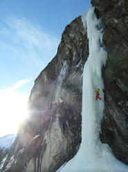 Benedikt Purner making the third ascent of