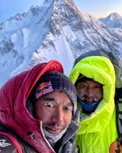 Nirmal Purja and Mingma Tenzi Sherpa at Campo 2 on K2 on 30/12/2020