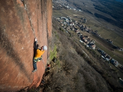 Martin Riegler making the first ascent of Skinwalker