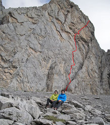 Josune Bereziartu e Rikar Otegui su Super Weissmuller - Petit Pic De Ansabere (Francia)
