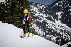 Axelle Gachet-Mollaret wins the Individual race of the Ski Mountaineering World Cup 2020/2021 at Flaine in France