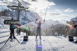 Martina Valmassoi sets the new female 24-hour uphill ski record on 21-22/03/2021: 17,645 meters