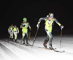 Alain Seletto and Tony Sbalbi, winners of the 16th Sellaronda Skimarathon