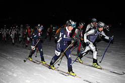 Roberta Pedranzini and Francesca Martinelli, winners of the 16th Sellaronda Skimarathon