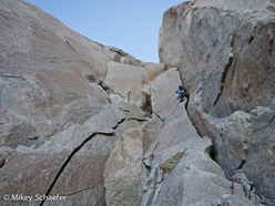 Kate Rutherford during the first ascent of The Washington Route, Cerro Fitz Roy, Patagonia