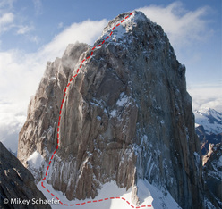 The Washington Route, Fitz Roy, Patagonia (VI, 5.10, A1 Michael Schaefer and Kate Rutherford 02/2011)