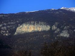La bella falesia di Sengio Rosso, Monte Baldo