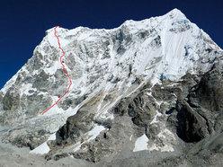 Parete Sud-Est del Lunag 1 (6895m), Nepal by Max Belleville, Mathieu Détrie, Mathieu Meynadier e Sébastiin Ratel (Francia)