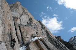 Ian Nicholson and Graham Zimmerman were awarded one of the Mountain Fellowship awards in 2007 for a first ascent attempt on the West Face of Kichatna Spire.