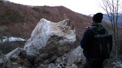 Frana a Pietracamela, chiusura della Valle del Rio Arno