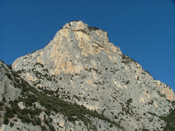 The impressive Piccolo Dain in Valle del Sarca, Arco, Italy