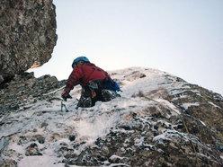 Daniele Colombo in azione su Superpsyco, Monte Pennino