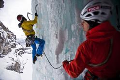 Albert Leichtfried e Benedikt Purner ice climbing at Sordalen