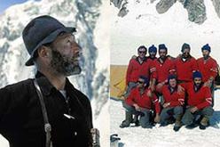 Riccardo Cassin e i componenti della spedizione al McKinley