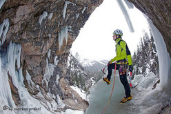 Pavol Rajcan at the start of Dolasilla  (Fanes, Dolomites)
