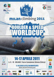 The first stage of the Bouldering and Speed World Cup 2011 will take place from Thursday 14 - Sunday 17 April in Milan. 166 athletes from all over the world will travel to the enchaning Sempione Park for these four spectacular climbing days.