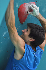 Kilian Fischhuber competing at the Arco Rock Master 2010 - the pre-event of the IFSC World Championship due to take place in Arco in July 2011