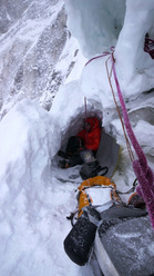 Ueli Steck climbing the North Face of Cholatse (6440m)