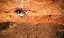 Enzo Oddo on pitch 4 of Walou Bass in Taghia, Morocco